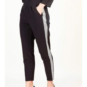 NWT Imperial cropped black pant  & sequins